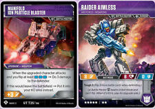 Transformers TCG: Raider Aimless - Air Force Weapons // Manifold Ion Particle Bl