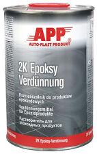Diluant epoxy 1 litre pour appret, carrosserie, peinture, auto