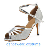 Ladies Prom Party Ballroom Latin Tango Salsa Dance Shoes Heels Sandals EU 34-42