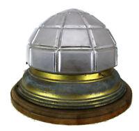 Large Art Nouveau Bauhaus Ceiling Lamp Fixture Plafonniere Flush Mount  Brass