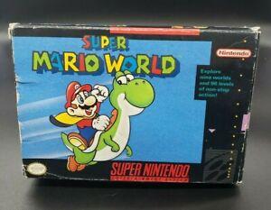 Super Mario World - SNES - Super Nintendo - FIRST PRINT - CIB - Complete in Box