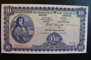 Ireland 10 Pounds 1955 Crisp