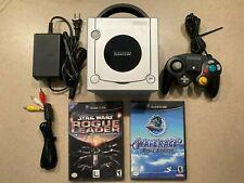 New listing Silver Nintendo GameCube Console w/ Original Controller + Memory Card + 2 Games