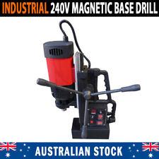 NEW Industrial 240V 1380Watt MT2 Magnetic Base Drill Extra Long Travel Fwd & Rev