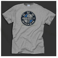 Men's BMW Air-Cooled Motorcycles Boxer Beemers Airheads Print Grey T-Shirt