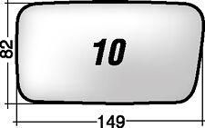 CINQUECENTO 10 S  RICAMBIO SPECCHIO RETROVISORE SINISTRO VETRO + BIADESIVO