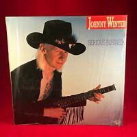 JOHNNY WINTER Serious Business 1985 vinyl LP EXCELLENT CONDITION