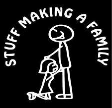 Stuff making a family car vinyl decal JDM funny ute boat drift stick family