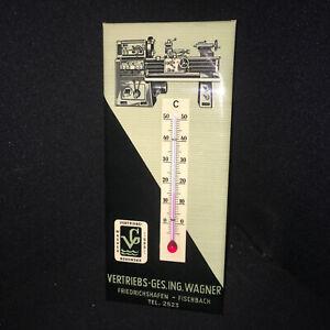 Wagner Friedrichshafen Imgoglas Scudo Termometro IN Originale 9,7 X 22,3 CM D