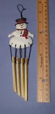 "Vintage Mini Snowman Chimes   9"" long"