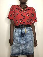 Vintage Acid Wash High Waist Denim Skirt 29� Waist