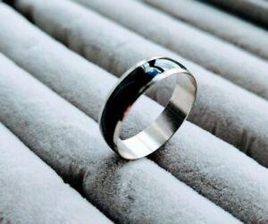 Stainless Steel Black/Silver Ring :  Men's / Woman's -  Girls / Boys 💍