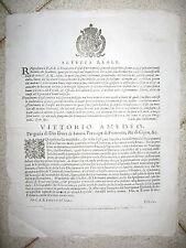 Z975-PIEMONTE-VITTORIO AMEDEO DI SAVOIA AMNISTIA E INDULTO 1683