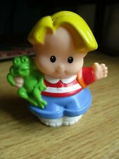 """fisher price little people """" Eddie with freddy frog/ backpack for school."""""""