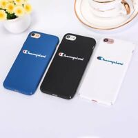 For iPhone Xs Max XR 6s 7 8 Plus Sport Brand Phone Case Champion Hard Skin Cover