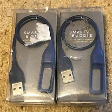 Lot of 2 Smart Buddie Navy Activity Tracker CHARGER For Fitbit Flex VogueStrap