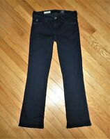 AG Adriano Goldschmied THE STACY Mid-Rise Straight Jeans Cropped Dark Wash 25