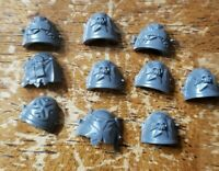 Warhammer 40k Space Marine Bits:Black Templar Engraved Shoulder Pads x10