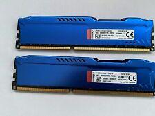 16GB Memoria PC KINGSTON HYPERX 16GB (2 X8GB) DDR3 1600Mhz PC3-12800U CL10