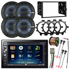 """Double Din Usb Dvd Bluetooth Car Receiver, 4x 6.5"""" Coaxial Speakers, Accessories"""