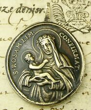 ANTIQUE 18TH CENTURY ROSA MISTICA O.L. OF GUADALUPE & ROSE OF LIMA BRONZE MEDAL