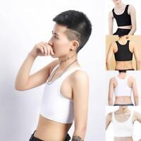 Transgender Breast Weste Binder Korsett Stärken flache Brust kurze Cosplay Z1G4