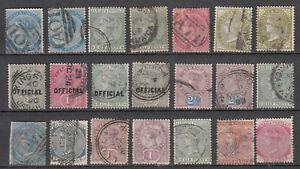 Jamaica - 1860/1891 QV stamp lot (8095)