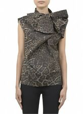NEW LANVIN BOW FRONT LEOPARD PRINT COLLECTION TOP RUNWAY Size 40 (8) $2540 AUTH