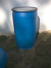 1 Blue 55 Gallon plastic removable lid barrel / drum local pickup only Zip 19007
