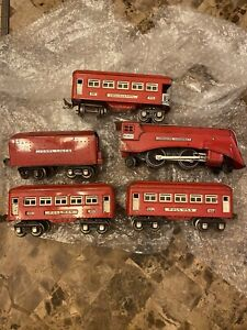 Lionel prewar red comet set o gauge