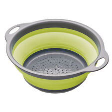 Kitchencraft Green Collapsible Colander with Handles
