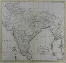 INDIA  BY WILLIAM DARTON  LARGE ENGRAVED MAP WITH  ORIGINAL HAND COLOUR   c1792