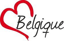 """Voiture autocollant """"Belgique"""" sticker Belgique environ 9x14cm contour découpé"""