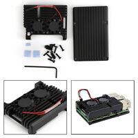 Dernier Bo?te en alliage d'aluminium CNC et ventilateur pour Raspberry Pi4B FR