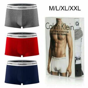3 Pack Calvin Klein Mens Underwear Fashion Men Shorts Trunks Cotton