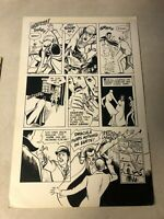 Blood of Innocent #4 original art DRACULA FEARS NOTHING wolf SILVER CROSS RIPPER