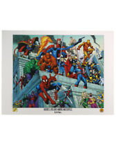 Heroes & Villains Marvel Masterpiece Arthur Adams Lithograph Spider-Man Hulk