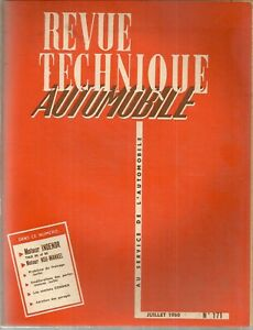 REVUE TECHNIQUE AUTOMOBILE 171 RTA 1960 MOTEUR INDENOR TMD NSU WANKEL ROTATIF