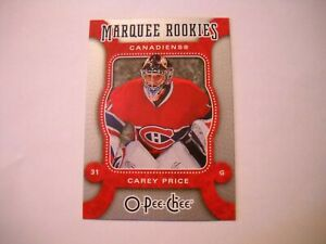 {1} 07/08 O-Pee-Chee Marquee Rookies: Carey Price  #560