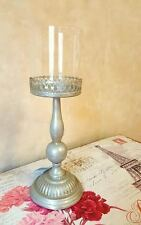 Large Elise Antique Champagne Tall Candle Stick Holder 36cm Candlestick