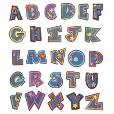 Letter Patch Patches Iron on / Sew on Retro Alphabet Embroidery Clothes Childre