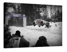 """VW Polo WRC - 30x20 pollici Tela Foto Incorniciata stampa RALLY """"Colin Crest"""" Jump"""