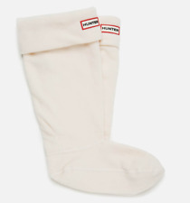 Hunter Original Womens Cream Tall Fleece Welly Boot Socks Sz M 5705