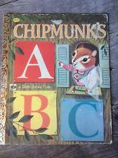 Little Golden Book LGB Chipmunks ABC 1963 Richard Scarry illustrations