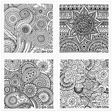 Bundle Monster 10pc Shangri La Nail Art Stamping Plate Abstract Mandala Flowers