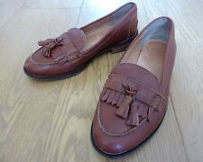 Jack Wills Ladies Brown Leather Loafer Shoes Size UK 4 EU 37 US 6