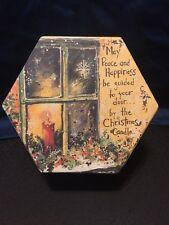 Lang~ Christmas Box (empty)Octagon Gold Green Box Holiday Decor