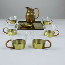 A G Bunge Messing Tee Kaffee Service Messing Brass 30er - 50er Jahre alt vintage