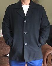 Men's GUESS Wool Blend Coat - Black - Large