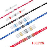 100x Lötverbinder Schrumpfverbinder Kabelverbinder Stoßverb wasserdicht Kabel